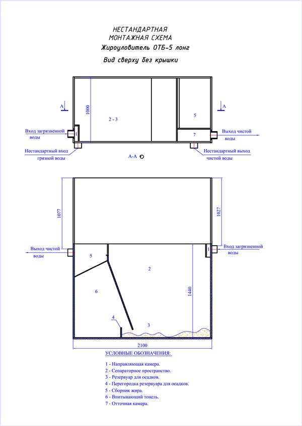 Монтажная схема UNI-S-5 Лонг