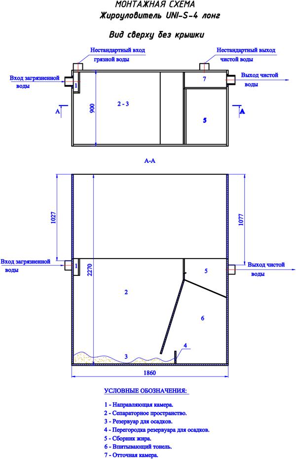 Монтажная схема UNI-S-4 Лонг